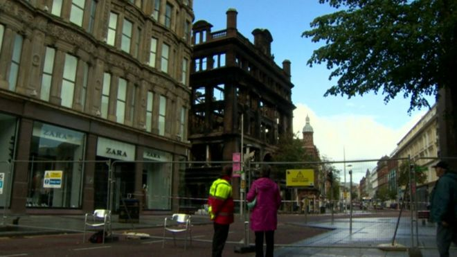 bc4426da35f Primark fire: Belfast shopper numbers 'fall' after blaze - BBC News