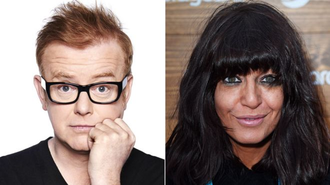 Chris Evans and Claudia Winkleman