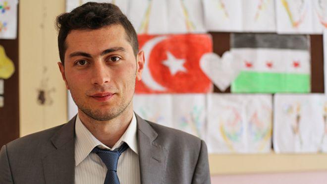 Muhammed Ali Cinar in his classroom
