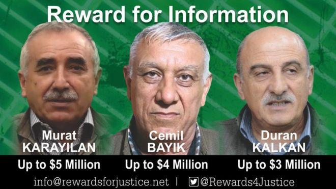 abd pkk ödül ile ilgili görsel sonucu