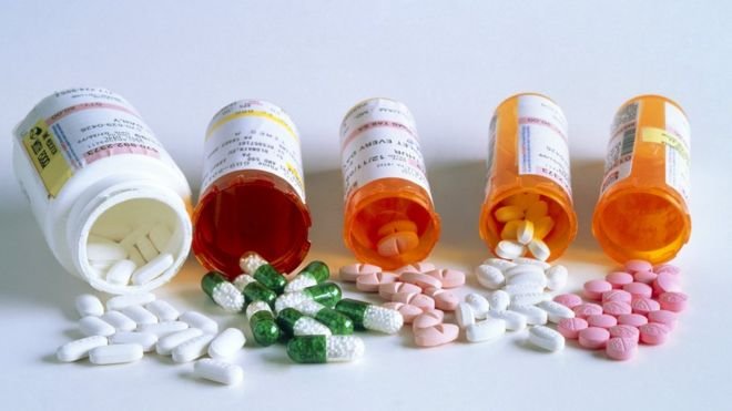 Bottles of medication