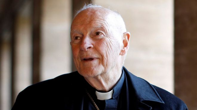 Mr McCarrick in his priest's collar, file photo
