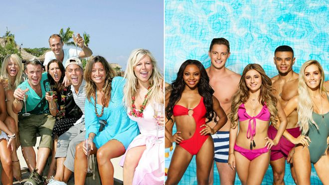 love island then and now comparing 2005 to 2018 bbc news