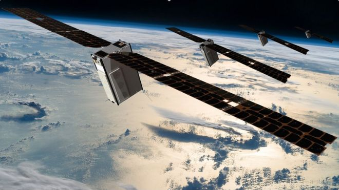The low-cost mini satellites bringing mobile to the world - BBC News