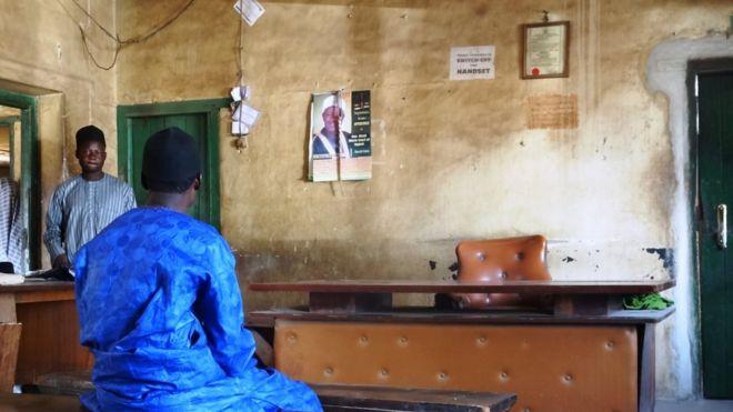Une salle d'audience au Nigeria