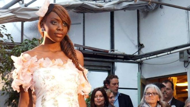 This Undated Handout Photograph Taken By Family Members Shows Naomi Musenga Posing During A Fashion Show