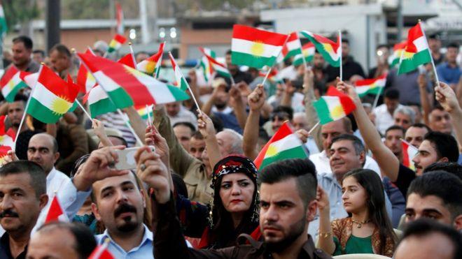 حمایت جمعی از مردم کرکوک از شرکت در رفراندوم استقلال اقلیم کردستان
