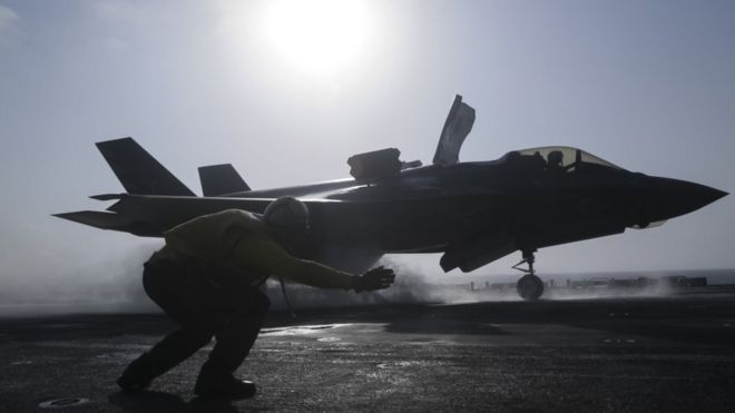 f 35 jets us military grounds entire fleet bbc news