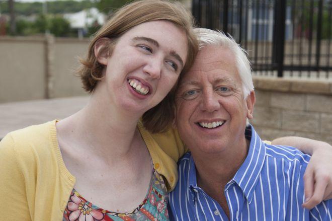 Морган и ее отец Гордон