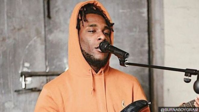Burna Boy don land for court ontop accuse of robbery - BBC News Pidgin