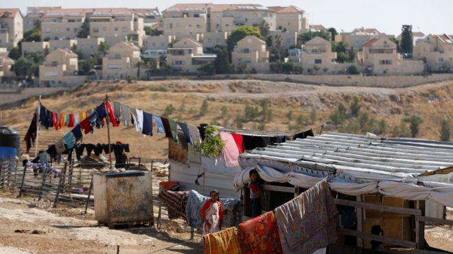 палестинское поселение на западном берегу
