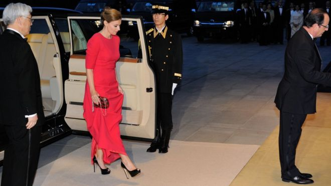 Бывшая гражданская супруга французского президента Франсуа Олланда Валери Триервейлер