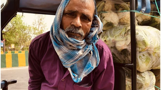 Ramprasad Shah在诺伊达出售蔬菜