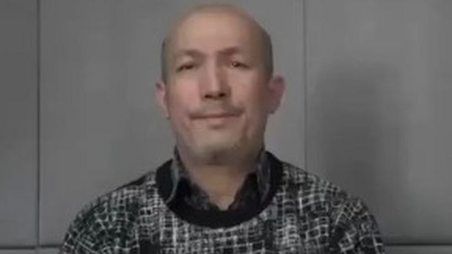 screenshot of video appearing to show Abdurehim Heyit