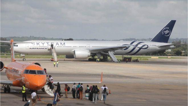 fake bomb forces air france flight to make kenya emergency landing
