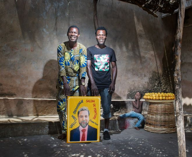 Louis Houenoude with this friend Gustovo and his son far right