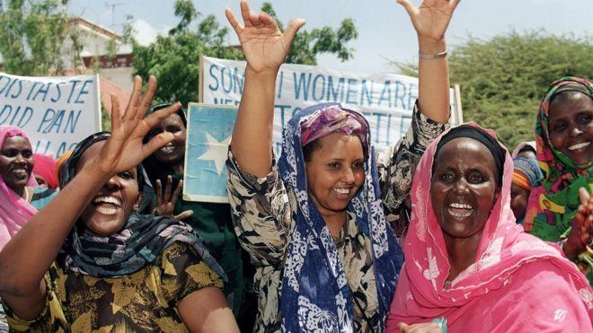 Des femmes somaliennes en train de manifester