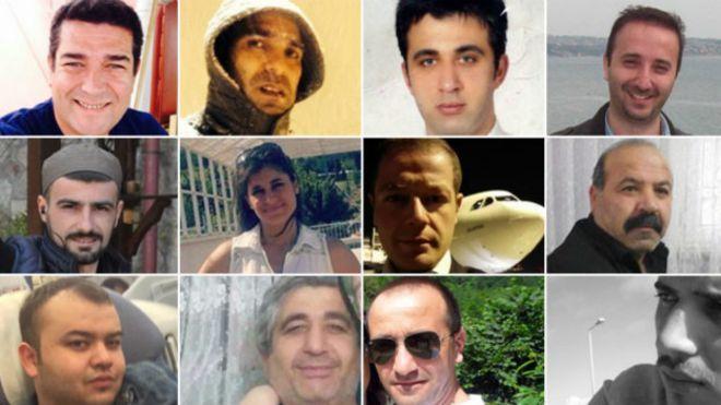 Turkish attack victims