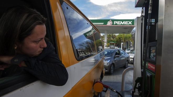 Gasolinera de Pemex en México
