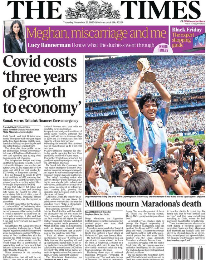 The Times 26 November