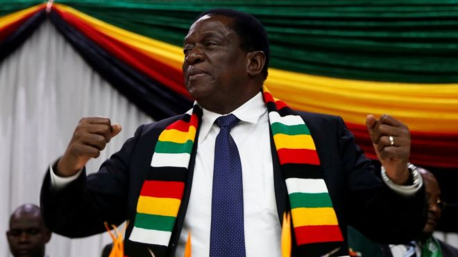 Zimbabwe President Emmerson Mnangagwa announces the date for the general elections in Harare, Zimbabwe May 30, 2018.