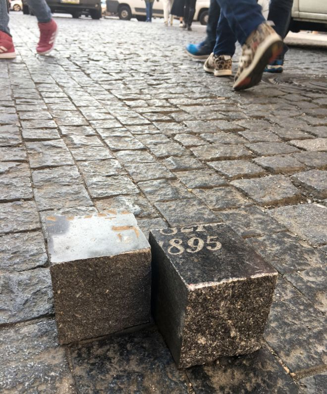 Prague cobblestones