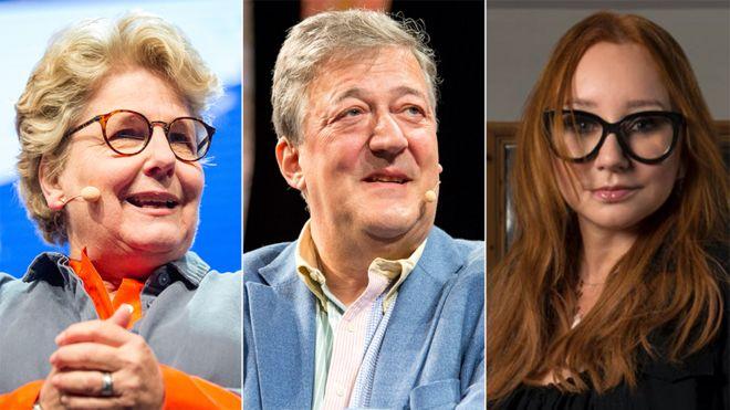 Sandi Toksvig, Stephen Fry and Tori Amos