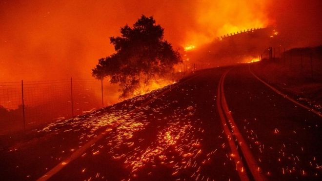 California: Power cuts expected as Kincade wildfires rage