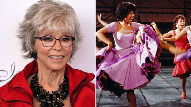 Rita Moreno now and in West Side Story