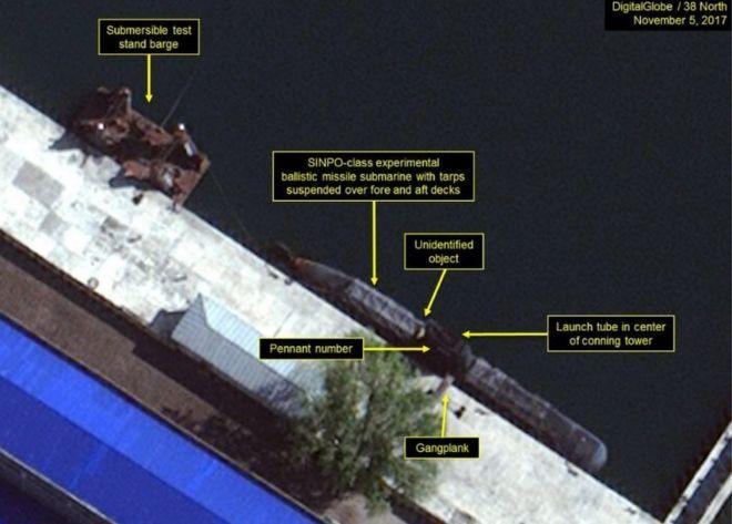 As imagens que mostram o programa secreto da Coreia do Norte 'para submarinos com mísseis'