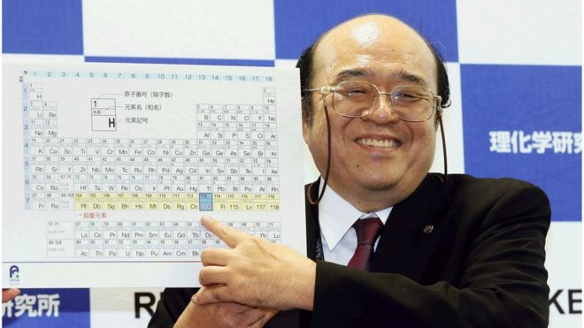 kosuke morita of riken nishina center for accelerator based science points at periodic table of - Periodic Table Bbc