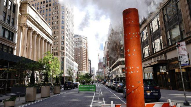 Открытые улицы в районы Таймс-сквер в Нью-Йорке