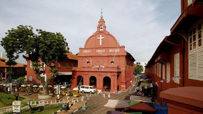 كنيسة المسيح الشهيرة بمدينة ملقا في ماليزيا