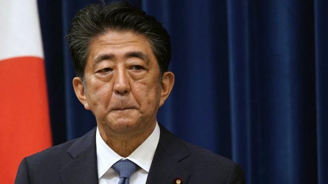 安倍晋三在总理官邸宣布辞职(28/8/2020)