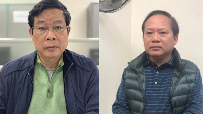 Ông Nguyễn Bắc Son (trái) và Trương Minh Tuấn