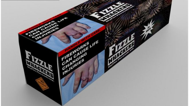 Firework Packaging Should Show Graphic Injuries, Doctors Say. Image: BAPRAS
