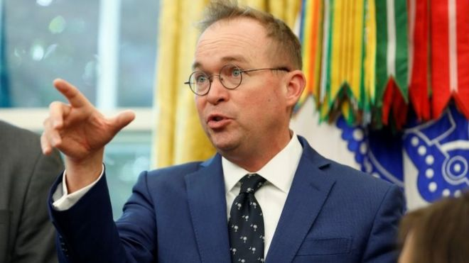 Mulvaney new acting Chief of Staff