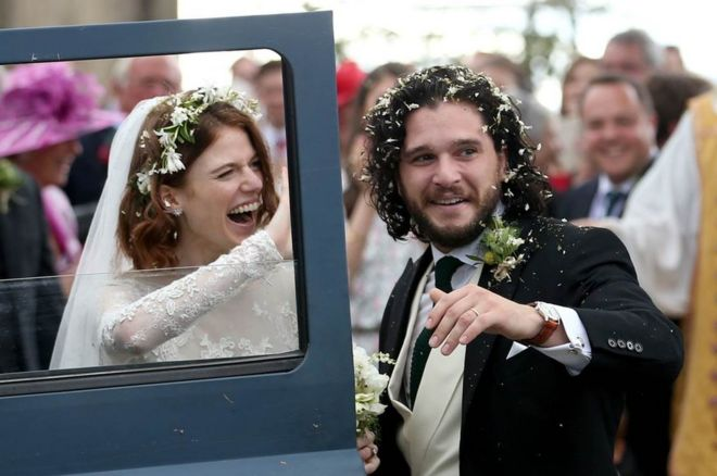 Game Of Thrones Kit Harington And Rose Leslies Scottish Wedding
