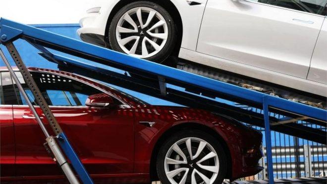 Latest Tesla Software Update >> Tesla To Update Battery Software After Recent Car Fires Bbc News