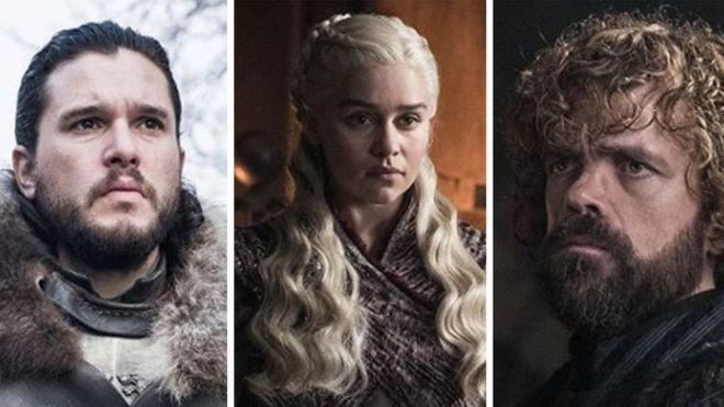 Jon Snow, Daenerys Targaryen and Tyrion Lannister
