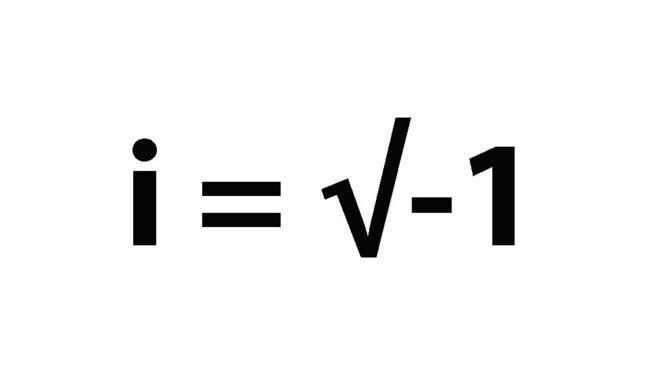 i = √-1