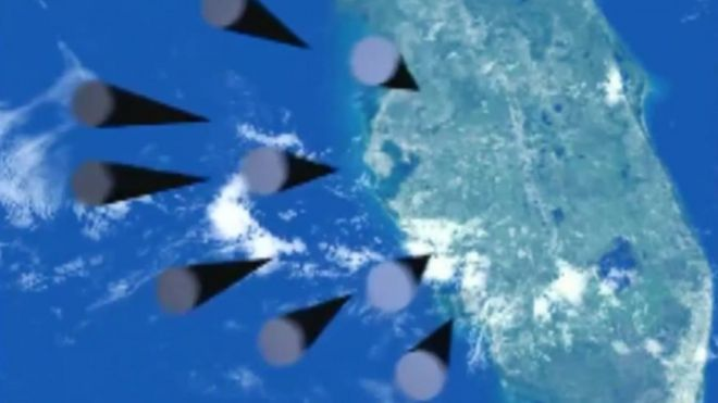 Animated video shows weapons reaching Florida
