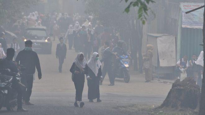 Asap Palembang Kabut Selimuti Ibu Kota Sumatera Selatan