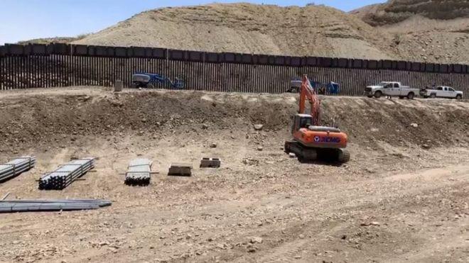 Барьер строится в штате Нью-Мексико