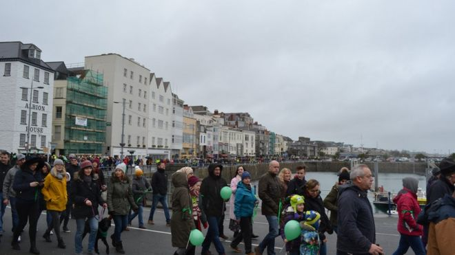 Protest in Guernsey