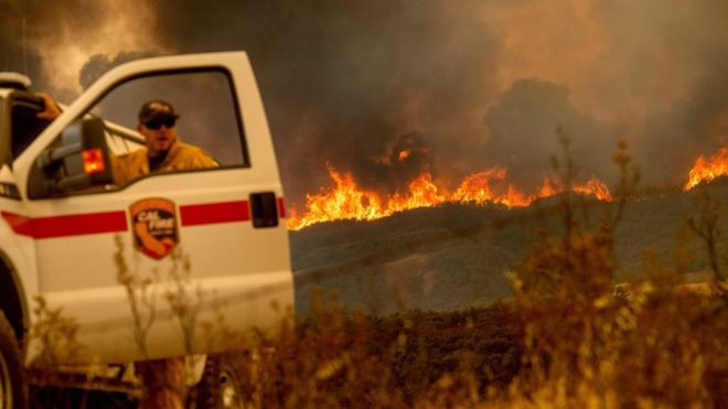 Incendio en California.