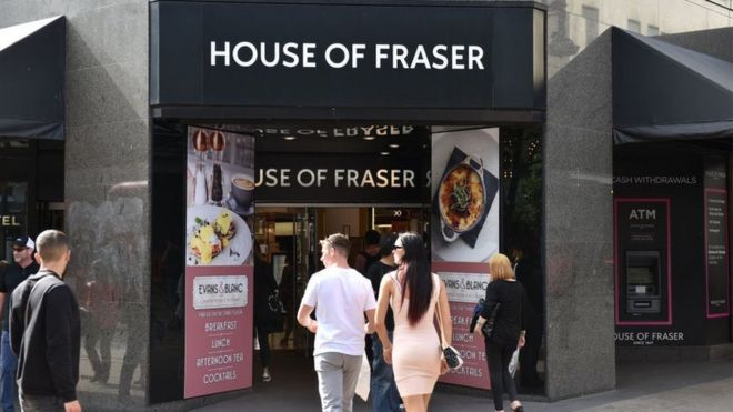 a38c0e9e7a3b9 House of Fraser suppliers face anxious wait - BBC News