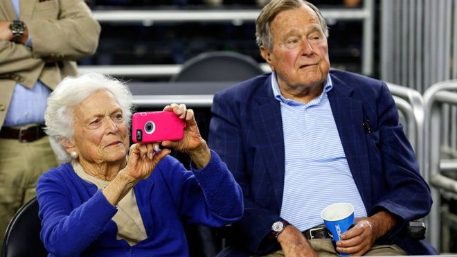 The former president and first lady