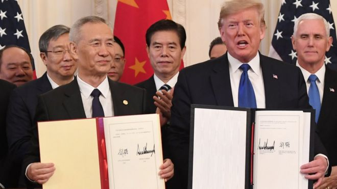 中美签署第一阶段贸易协议