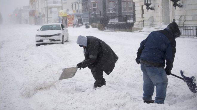 اختلال در رفت و آمد در اثر موج سرما شدید در شمال شرق امریکا